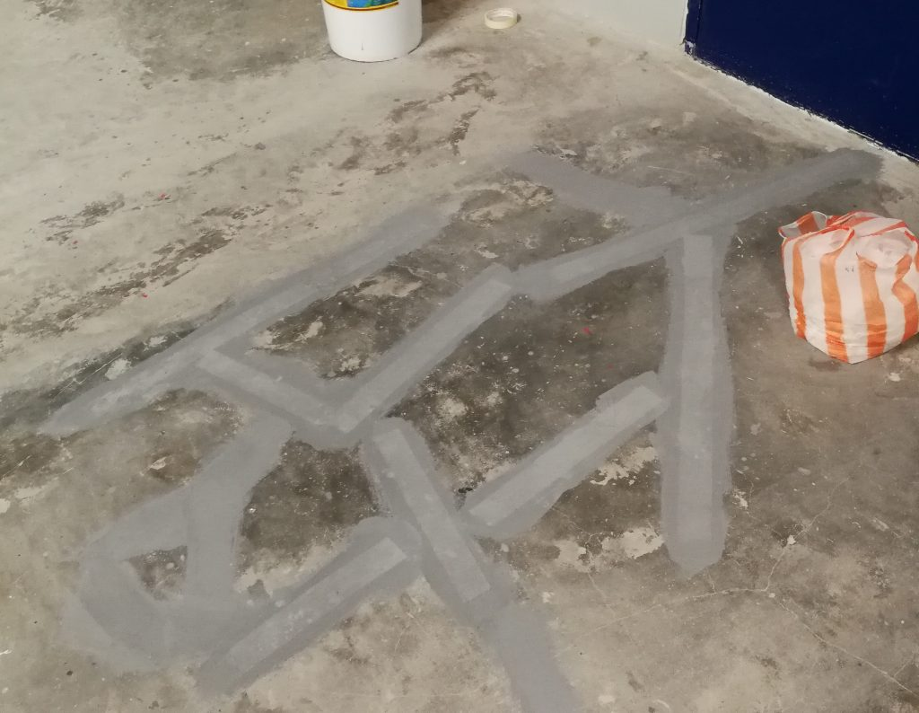 Dri-Floor AC-288 - Reinforcement over cracks
