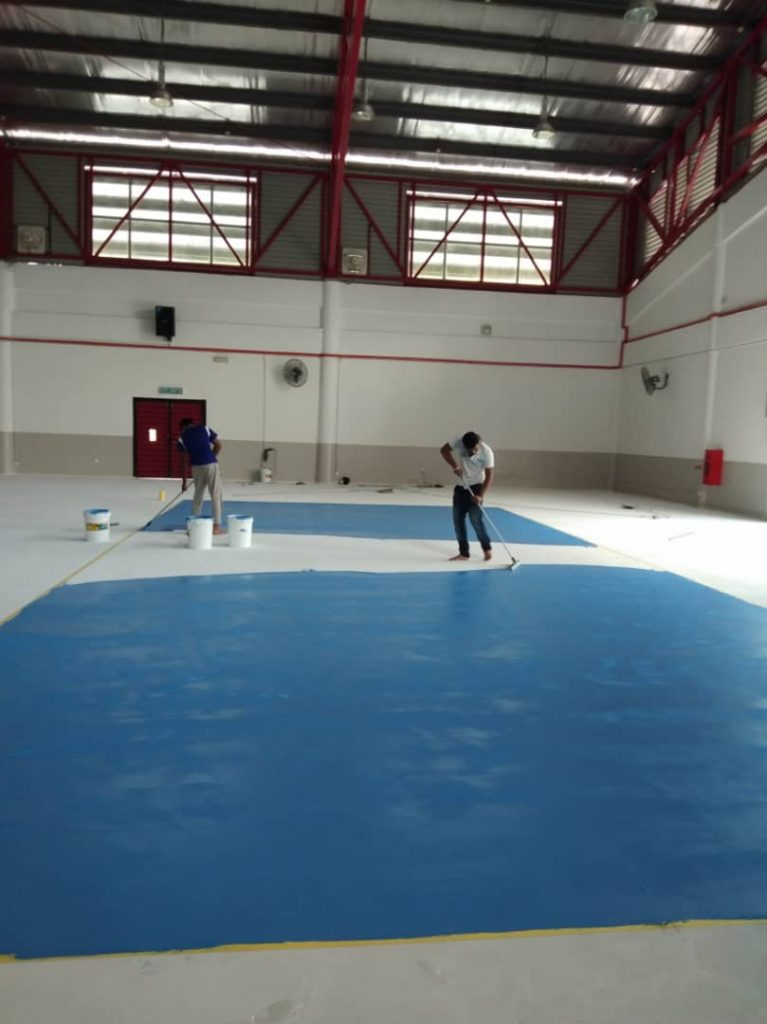 UNISEL - Dri-Floor AC Sports System - Squeegee Application